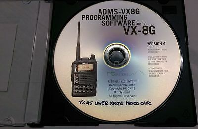 YAESU VX-8G ADMS-VX8GE Programmiersoftware für Handfunkgeräte von RT Systems  , gebraucht gebraucht kaufen  Augsburg