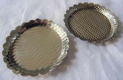 Arts and Crafts Antique Silver Plated Dish Dressing Table Trinket Ring x 2