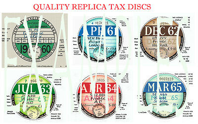 TAX DISCS' 4 QUALITY REPLICAS^ FOR  DISCERNING OWNERS.ALL YEARS FROM 1921-2020:>