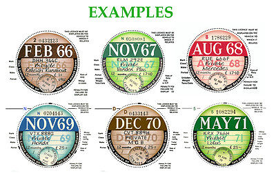 TAX DISCS 4 QUALITY REPLICA REPRODUCTION+ FOR DISCERNING OWNERS| FROM 1921 ¬->ON