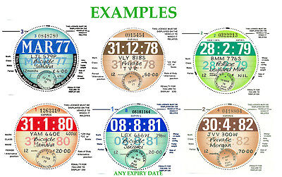 TAX DISCS.2 QUALITY REPLICAS FOR THE DISCERNING OWNER: ALL YEARS FROM 1921-2020>