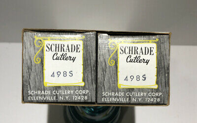 rare vintage Knife Schrade Cutlery 498S Two Pack Of 49ers