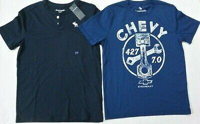 Abercrombie Kids Boys 11/12 Henley & Tee Shirts 2-PC Lot NWOT NWT