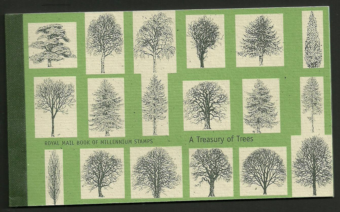 GB SGDX26 2000 TREASURY OF TREES BOOKLET MNH