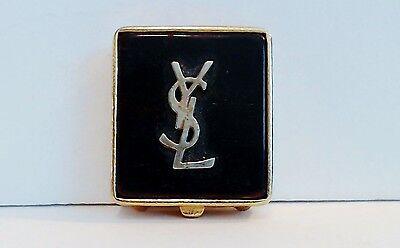 Yves Saint Laurent Solid Perfume Compact YSL Logo 95% Full Vintage EUC