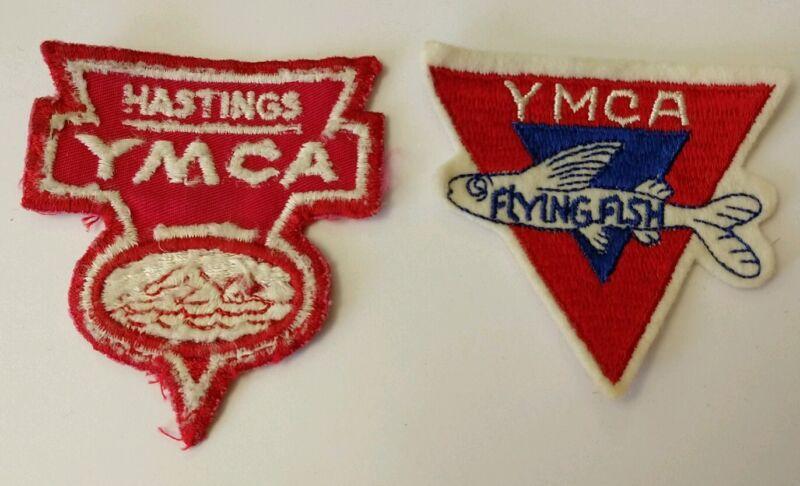 1960s Vintage Hastings, Nebraska YMCA Flying Fish Swim Patch Lot