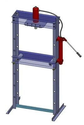 Hydraulic Shop Press Floor 15 Ton Bench Jack Stand Plans Build Your Own