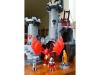 Playmobil Great Dragon Castle with knight, dog, dragon and flickering flame!