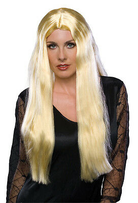 Womens Extra Long Blonde Wig Rapunzel Godiva Witch Hair Queen Costume Adult 24