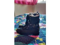 Girls m&s real leather boots