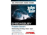 FREE JOBS FAIR - Shrewsbury 3rd May 2017