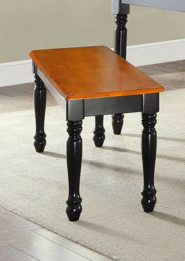 Wood Dinning Table Bench Seat Home Kitchen Nook Black Oak Co