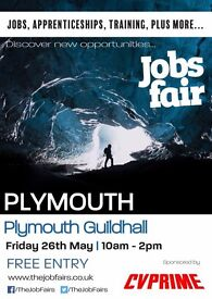 FREE JOBS FAIR - Plymouth 26th May