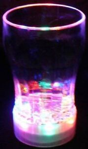 Bulk Lot 24 x Light Up Cola Glasses LED Drink Cup Glass Glow Partyware Xmas New