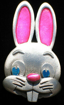 JJ PEWTER SPRING HAPPY EASTER CUTE BIG TEETH BUGS BUNNY RABBIT BROOCH JEWELRY LG (Bugs Bunny Teeth)
