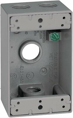 Sigma Electric Outlet 1-gang Box - Gray - 14251 - 4 Hole 12 - All-weather