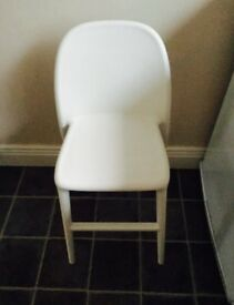 White ikea plastic junior chairs