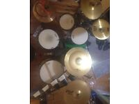 Drum kit with cymbals and more