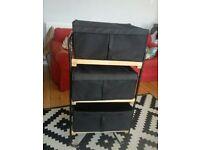 IKEA SHELVING UNIT & STORAGE BOXES