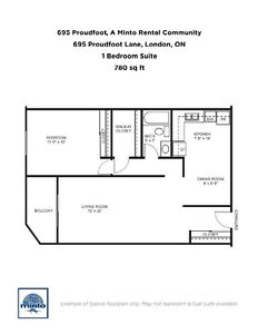 One Bedroom Suites 695 Proudfoot Lane for Rent - 695... London Ontario image 3