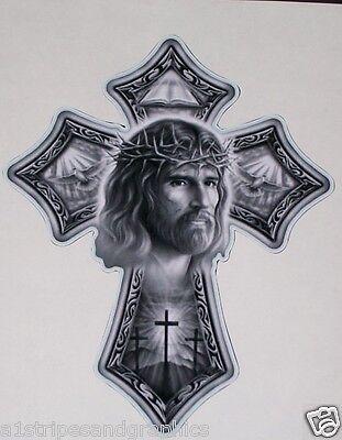 Jesus Cross Window or Wall Decal Decals Trailer Sticker church Art graphics Window Decal Graphics