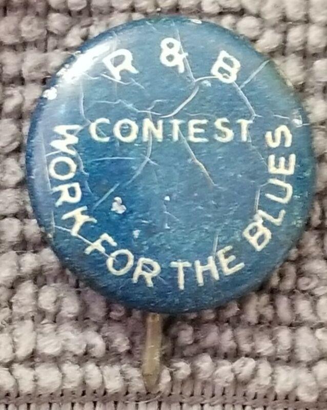 Vintage David C Cook Publishing Elgin Illinois R & B Contest Blues Pin