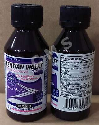 Humco Gentian Violet Anti Infective Topical Solution 2   2 Oz  First Aid Liquid