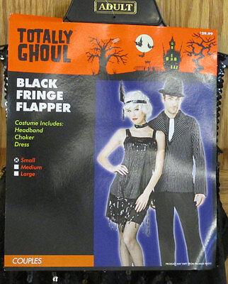 Sexy 1920s Flapper Womens Halloween Costume Dress Headpiece Black Size Small](1920s Costume Headpiece)