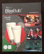 BlissBulb  2 Pack 1 Red And 1 Green Bliss Bulb BlissLights New In Box Christmas