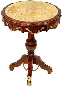 Salontisch aus villa louis xvi stil edelholz marmor tisch for Marmor salontisch
