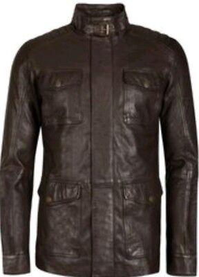 Ted Baker Aerys 4 Pocket Smooth Leather Jacket RT $725 Size 7