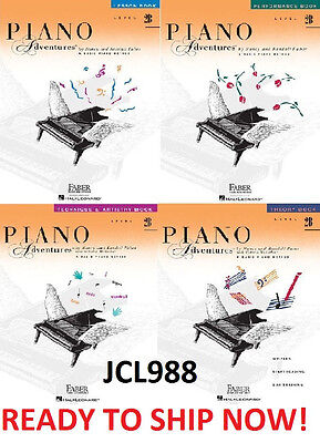 NEW FABER PIANO ADVENTURES LEVEL 2B- 4 BOOK PACK LESSON THEORY TECHNIQUE SET