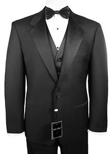 Sizes-35-64-Long-6-Piece-Complete-Tuxedo-Package-with-Flat-Front-Pants-Vest