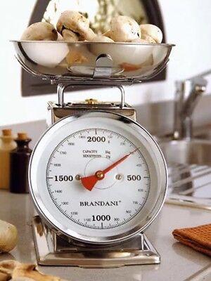 Bilancia da cucina kg 2 acciaio inox Brandani