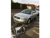 Audi A4 Cabriolet Silver with Black Hood