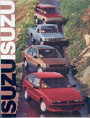 1986 Isuzu Impulse I-Mark Trooper II Pickup Brochure mx2408-BK7218