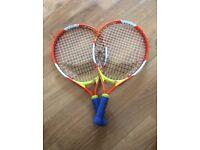 Pair Of Junior Tennis Rackets 17 Inch