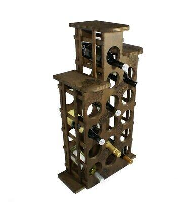 Cantina vino in legno da 15 posti porta bottiglie portabottiglia cantinetta