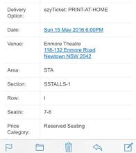 Arj Barker - Get In My Head - 2 tickets row i Sydney City Inner Sydney Preview