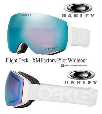 Oakley Flight Deck XM FactoryPilot Whiteout Prizm Sapphire Snow Goggle OO7064-60
