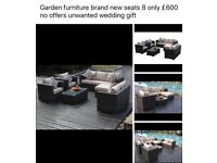 Brand new 8 seater garden furniture