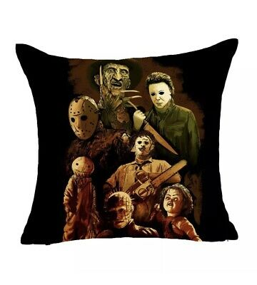 Halloween Music Cartoon (Horror Movie Pillowcase Halloween Throw Pillowcase (Pillowcase)