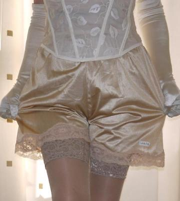 2 pairs of gold silky nylon  french knickers petti panties culottes briefs