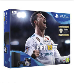 PlayStation 4 Brand New Sealed. Fifa 18 console 1tb
