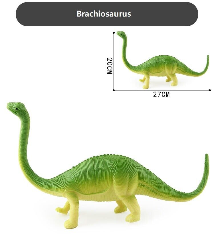 Realistic Jurassic Brachiosaurus Action Figure with Sounds Toy Gift for Kids