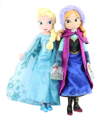 "Lovely 16"" Frozen Elsa & Anna Princess Stuffed Toy Plush Doll Birthday Gift Set"