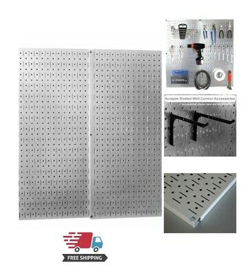 Metal Wall Pegboard 2 Pack Peg Board Panel Organizer Shelf Display Tools Garage
