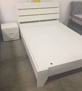 Dark brown or white timber bed frame - new! South Yarra Stonnington Area Preview