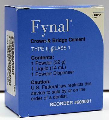 Dentsply Fynal Zoe Cement 32 Gm. Powder And 15 Ml Liquid 609001