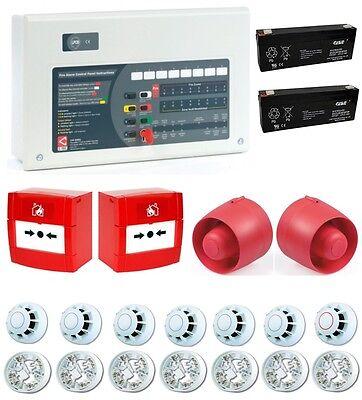 C-TEC 4 Zone Conventional Fire Alarm Kit 7 Detectors 2 Call Points 2 Sounders